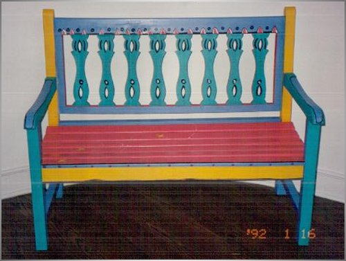 Design by Diane, Hand Painted Chairs Stools and Benches I.